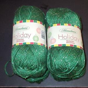 New Herrschners Victorian Christmas Yarn